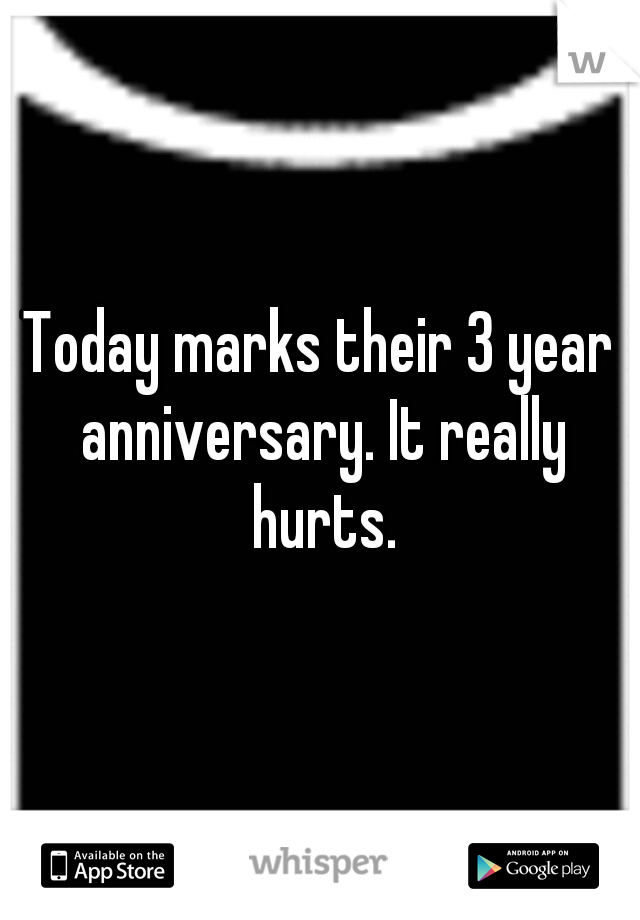 Today marks their 3 year anniversary. It really hurts.