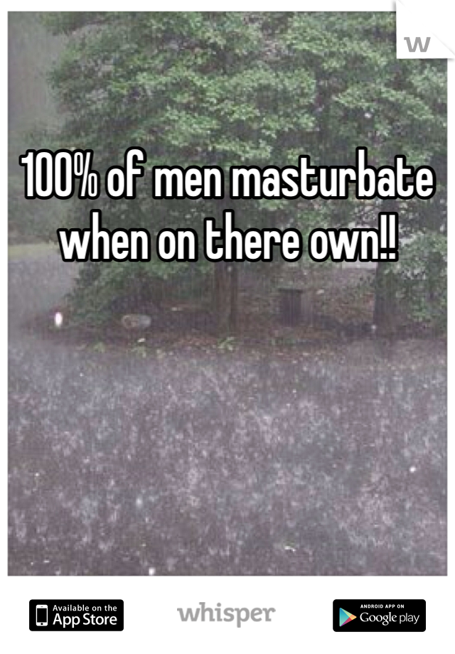 100% of men masturbate when on there own!!
