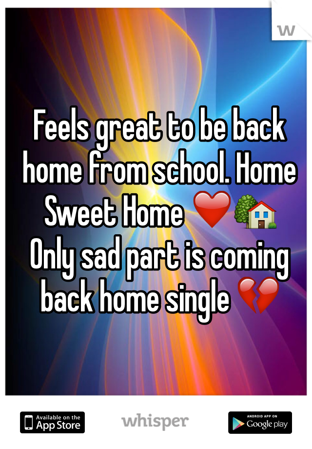 Feels great to be back home from school. Home Sweet Home ❤️🏡 Only sad part is coming back home single 💔