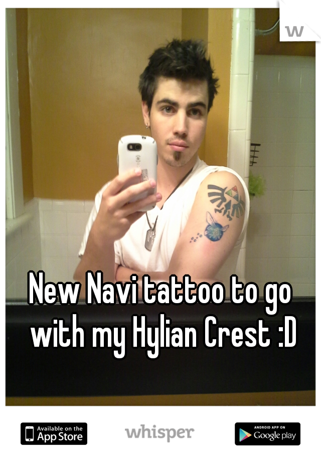 New Navi tattoo to go with my Hylian Crest :D