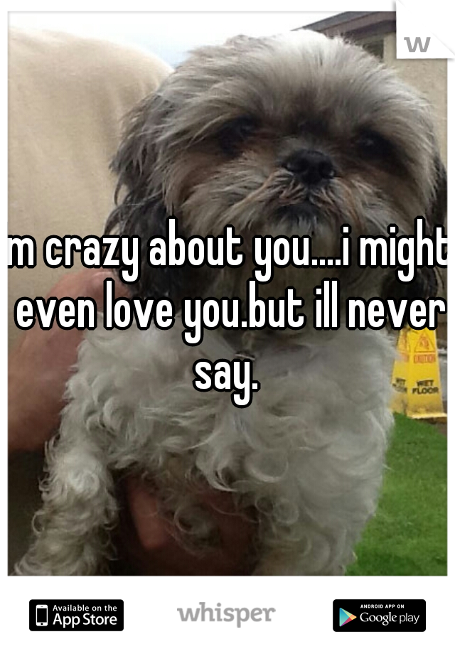 Im crazy about you....i might even love you.but ill never say.