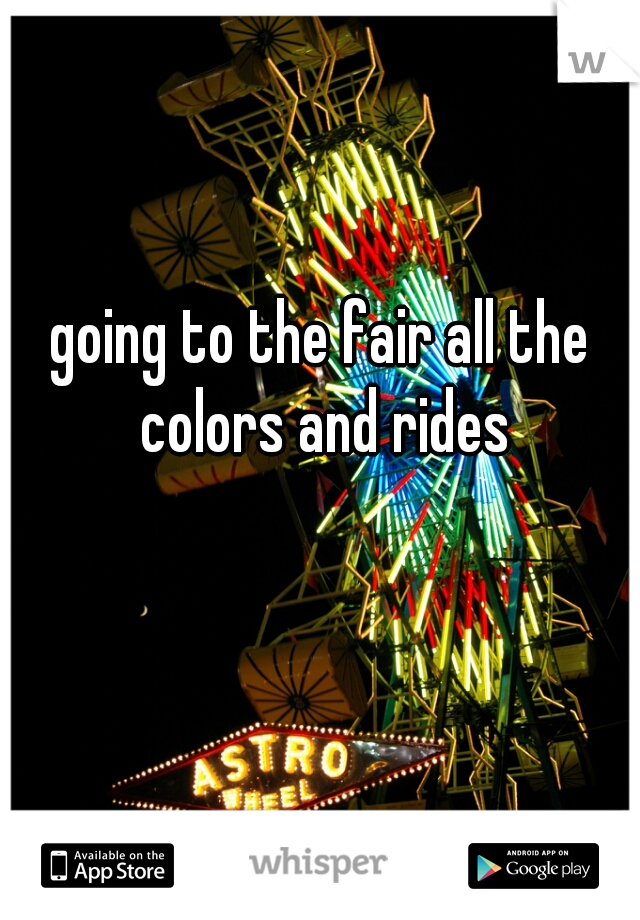going to the fair all the colors and rides