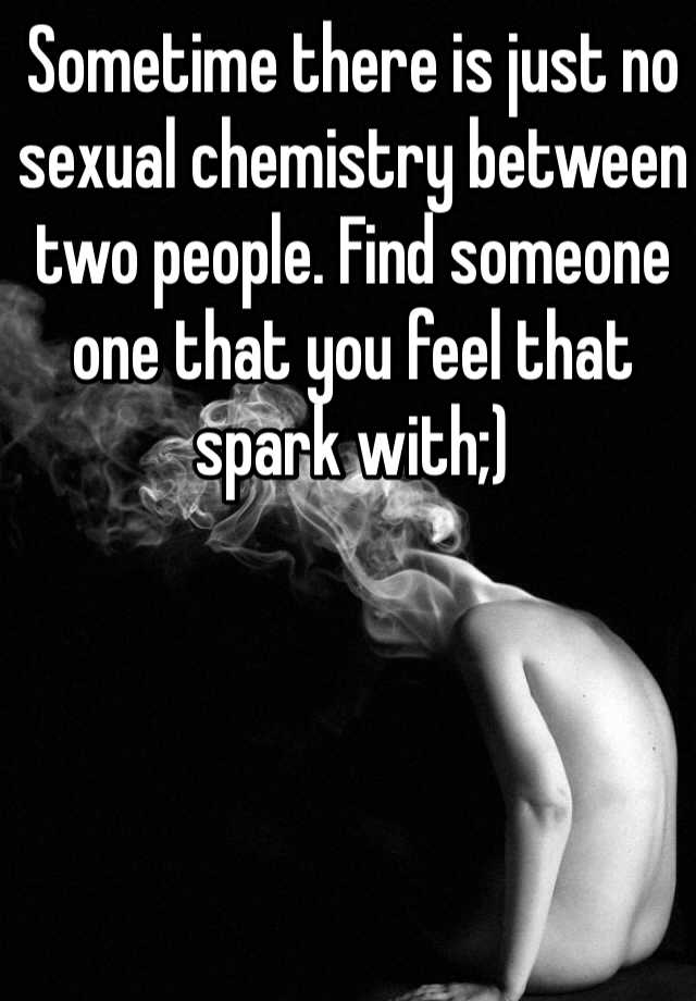Sexual chemistry between two people