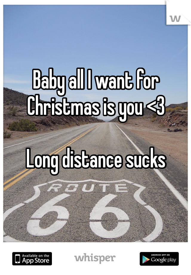 Baby all I want for Christmas is you <3  Long distance sucks