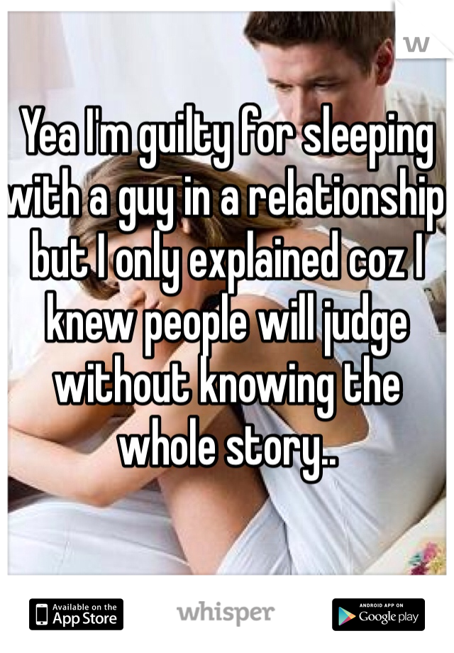 Actually A Relationship In Sleeping With A Guy