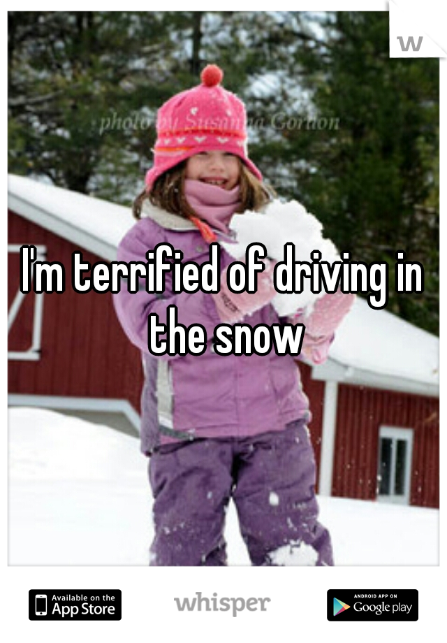 I'm terrified of driving in the snow