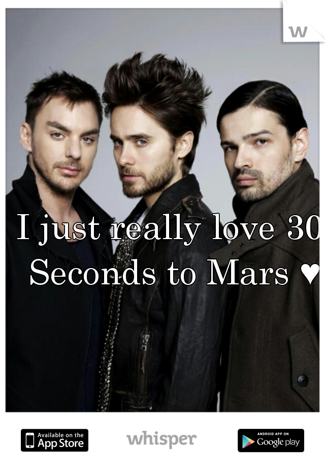 I just really love 30 Seconds to Mars ♥