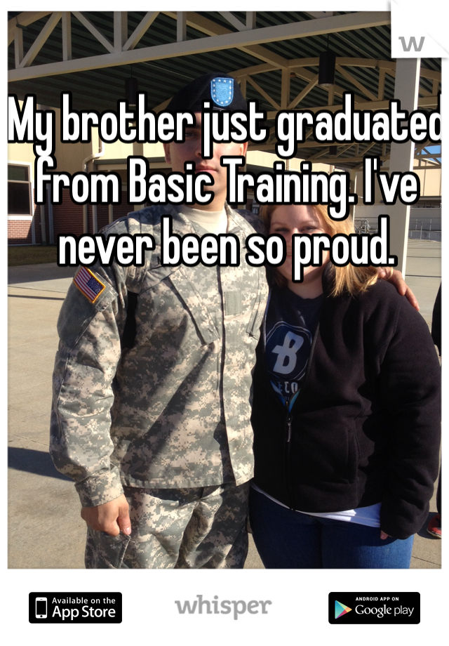My brother just graduated from Basic Training. I've never been so proud.