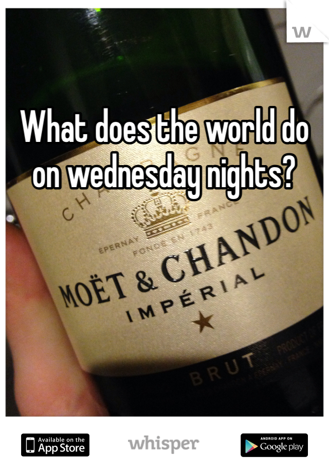 What does the world do on wednesday nights?