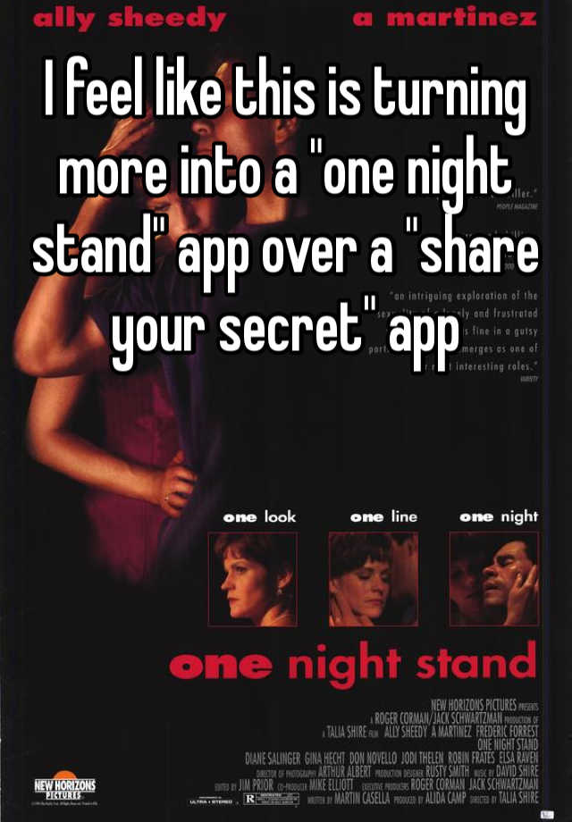 one night stand app