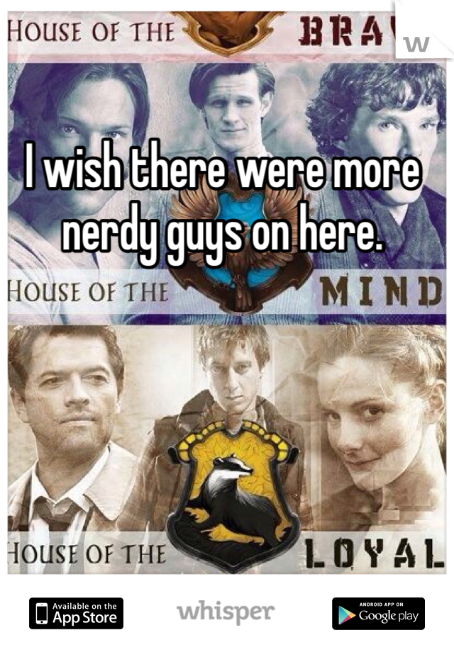 I wish there were more nerdy guys on here.