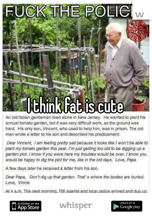 I think fat is cute
