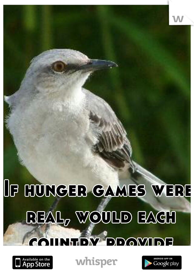 If hunger games were real, would each country provide tributes?