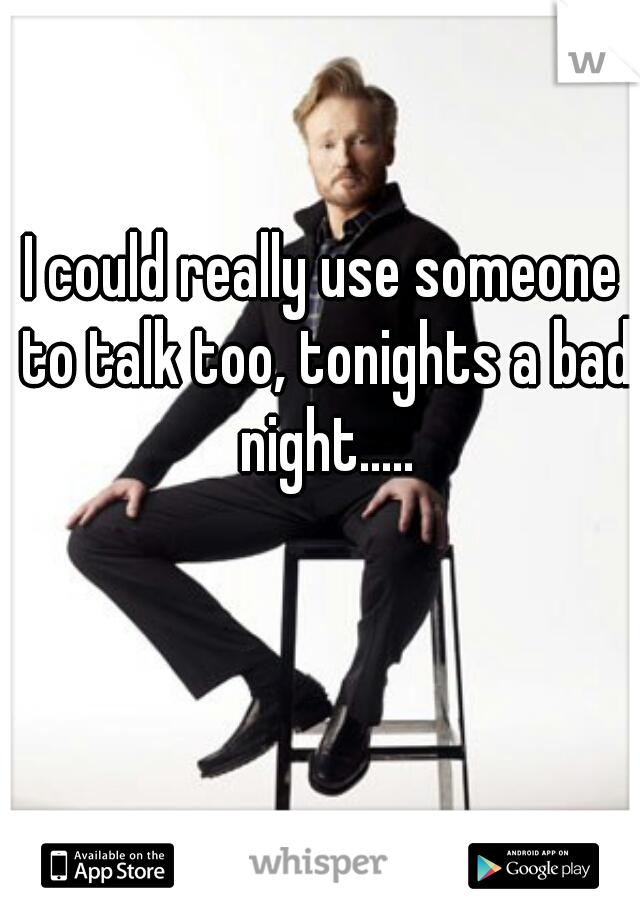 I could really use someone to talk too, tonights a bad night.....