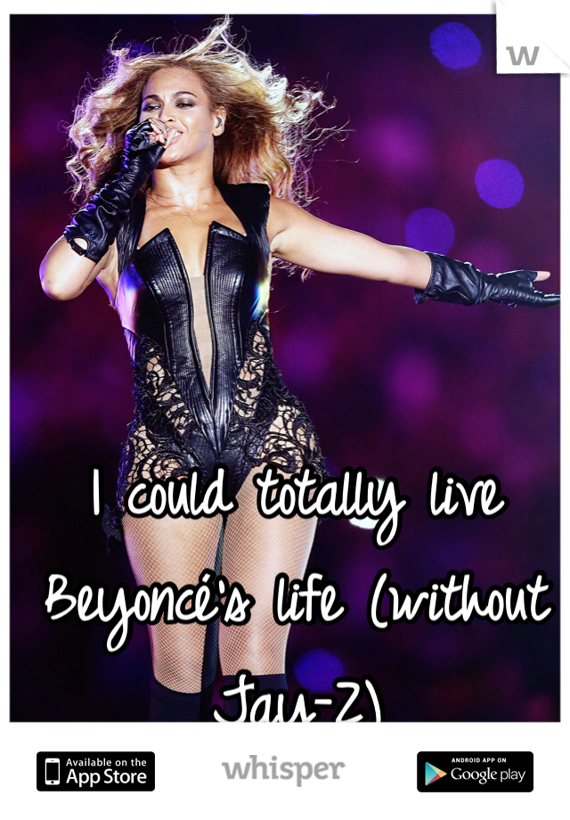 I could totally live Beyoncé's life (without Jay-Z)