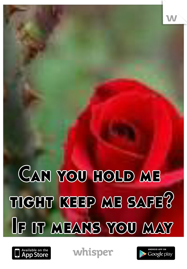 Can you hold me tight keep me safe? If it means you may hurt a little?