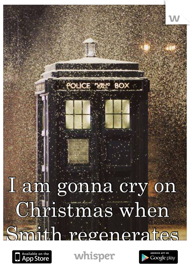 I am gonna cry on Christmas when Smith regenerates