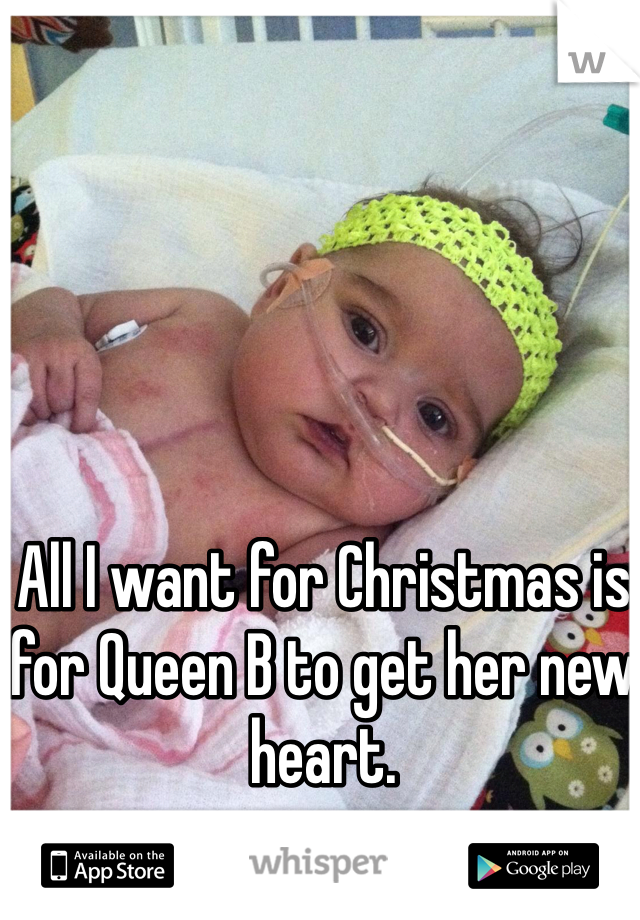 All I want for Christmas is for Queen B to get her new heart.