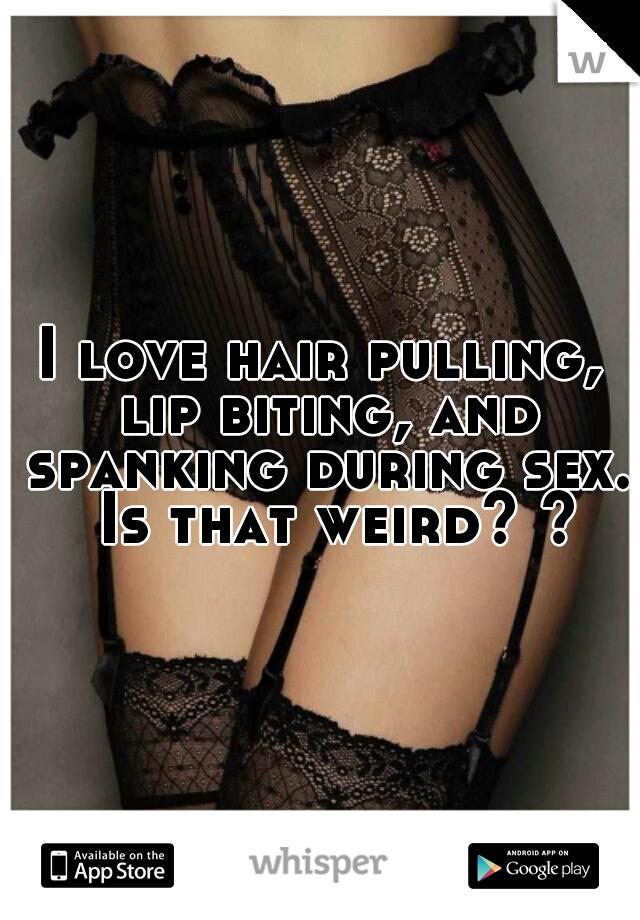 Spanking during sex