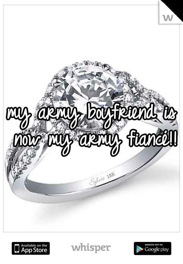 my army boyfriend is now my army fiancé!!