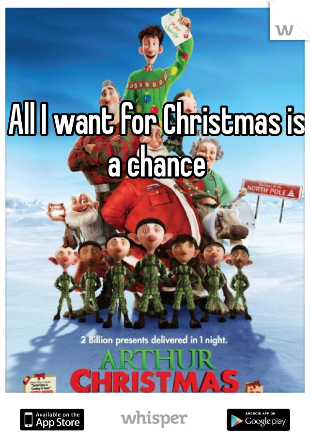All I want for Christmas is a chance