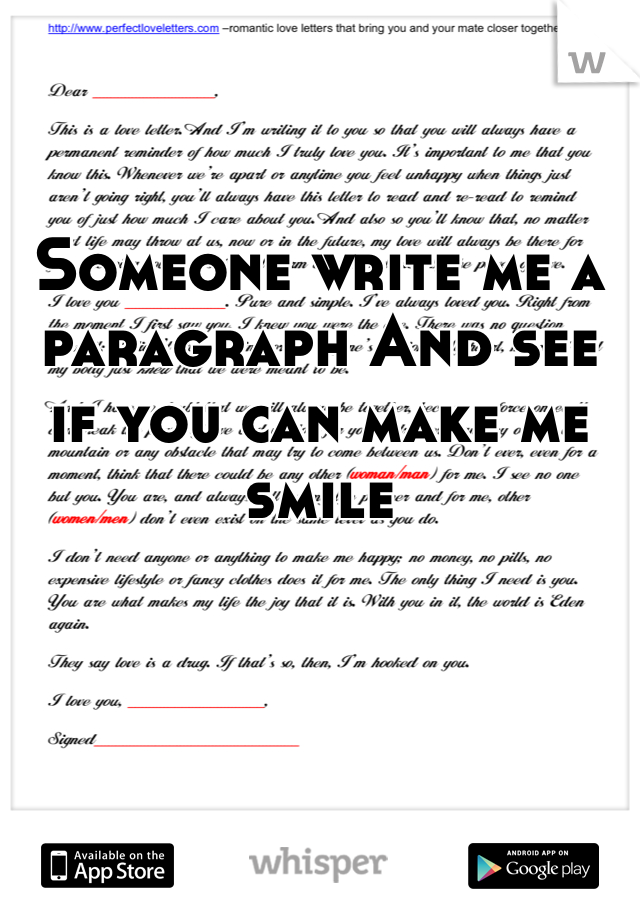 write paragraph for me