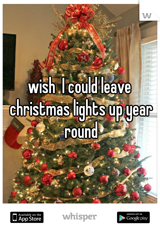 wish  I could leave christmas lights up year round