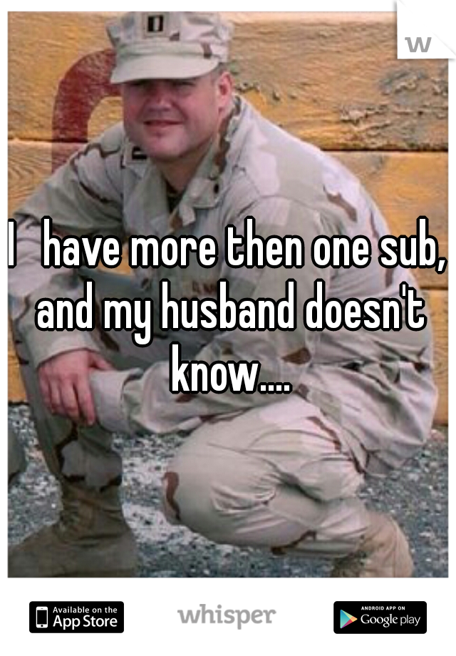 I   have more then one sub, and my husband doesn't know....