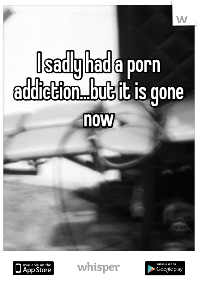 I sadly had a porn addiction...but it is gone now