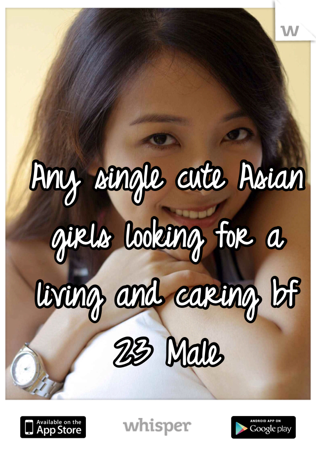 Any single cute Asian girls looking for a living and caring bf  23 Male