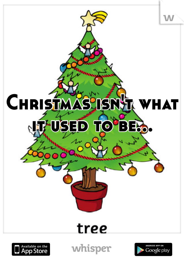 Christmas isn't what it used to be...