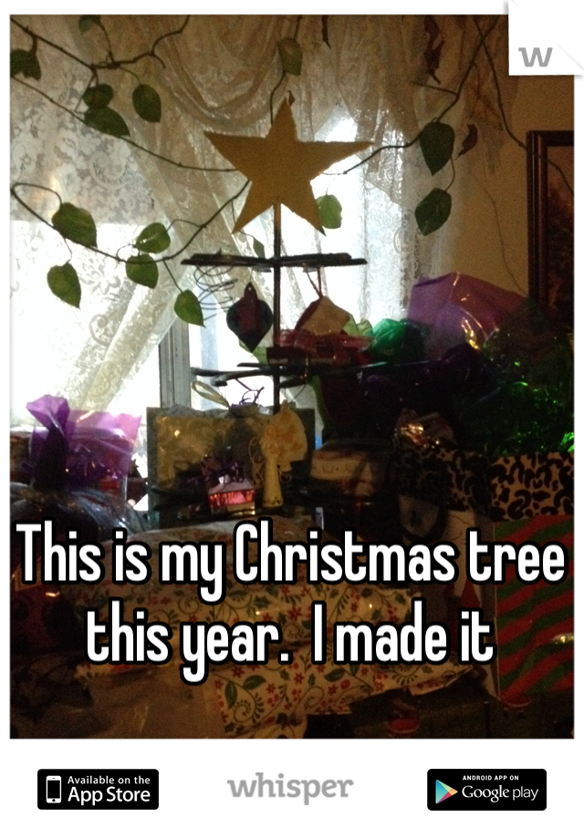 This is my Christmas tree this year.  I made it