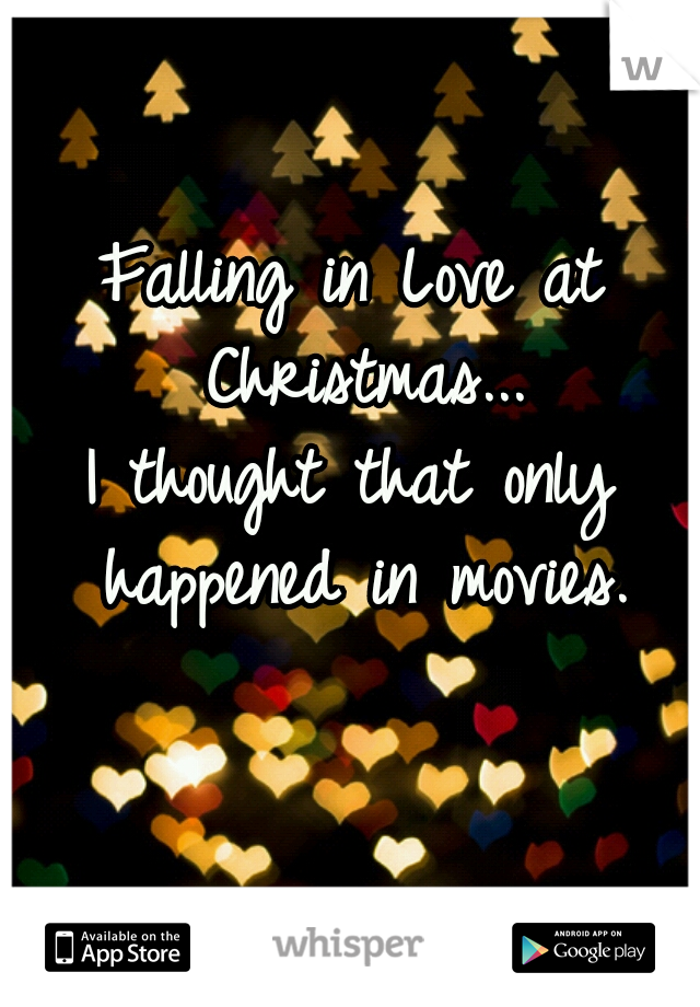 Falling in love at christmas
