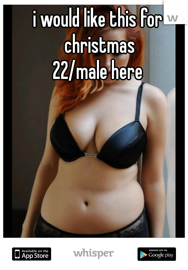 i would like this for christmas 22/male here
