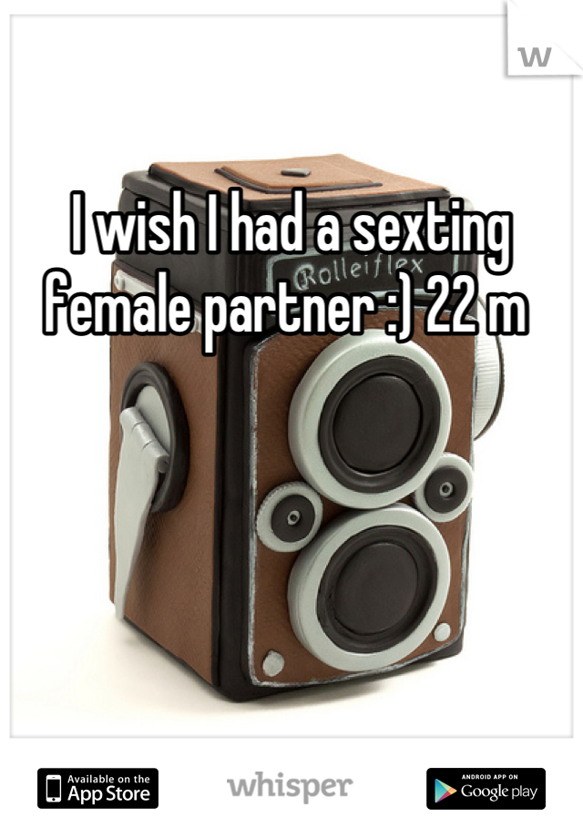 I wish I had a sexting female partner :) 22 m