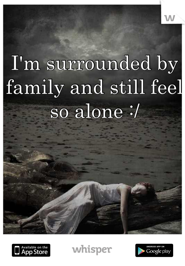 I'm surrounded by family and still feel so alone :/