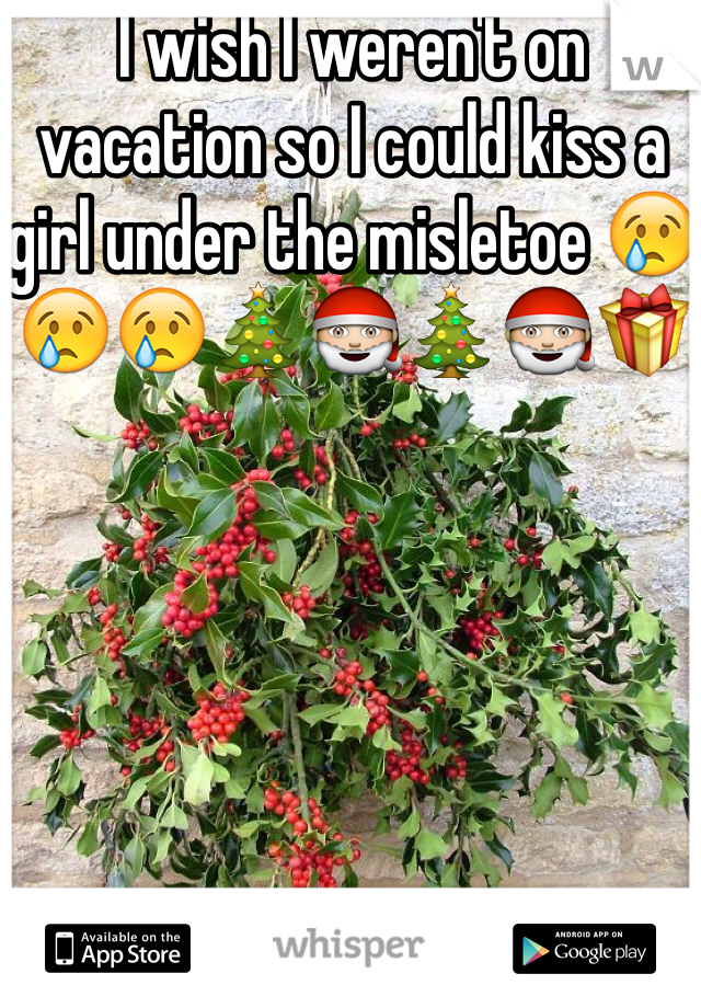 I wish I weren't on vacation so I could kiss a girl under the misletoe 😢😢😢🎄🎅🎄🎅🎁