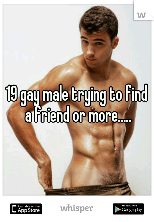 19 gay male trying to find a friend or more.....