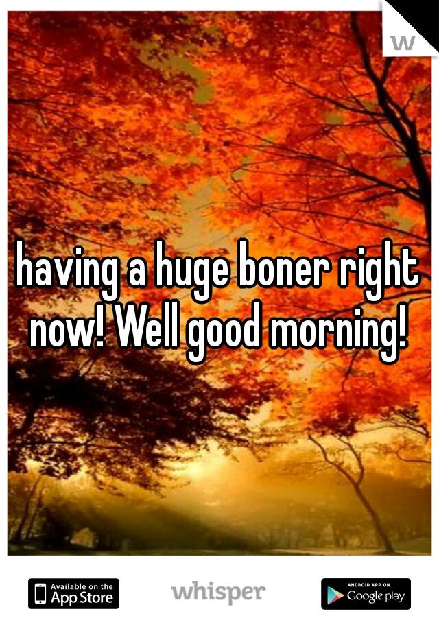 having a huge boner right now! Well good morning!
