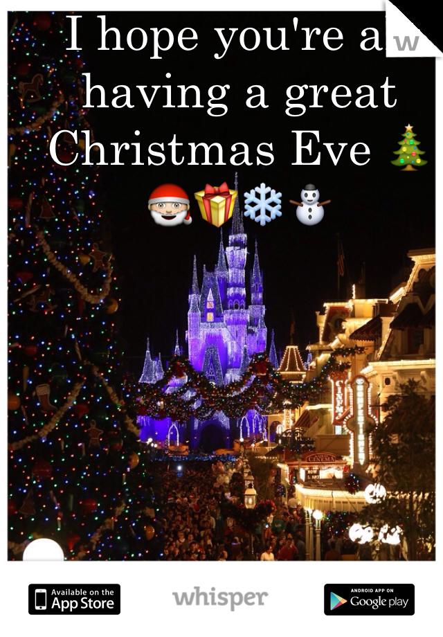 I hope you're all having a great Christmas Eve 🎄🎅🎁❄️⛄️