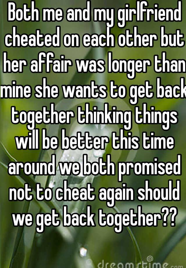 will my girlfriend cheat again