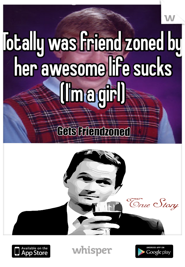 Totally was friend zoned by her awesome life sucks  (I'm a girl)
