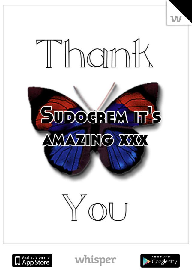 Sudocrem it's amazing xxx