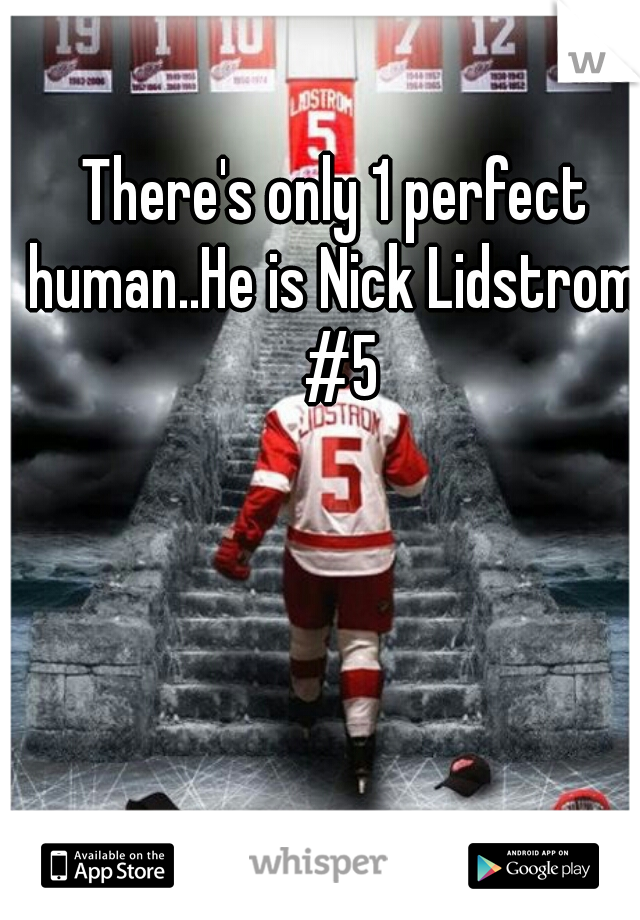 There's only 1 perfect human..He is Nick Lidstrom  #5