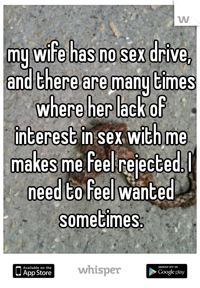 The lack of sex between my wife and i