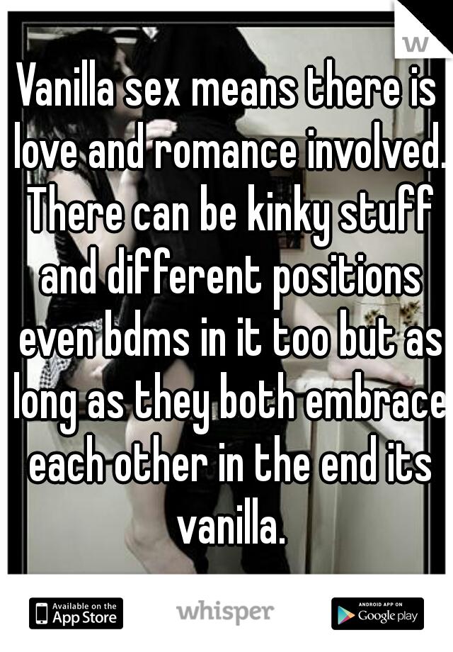 Sex vanilla Don't Feel