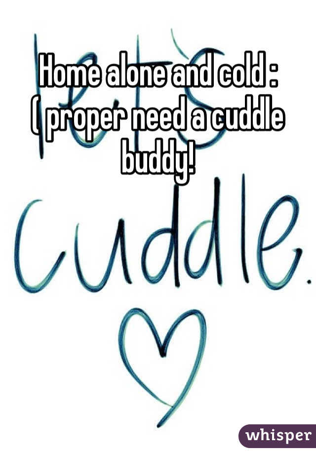 Home alone and cold :( proper need a cuddle buddy!