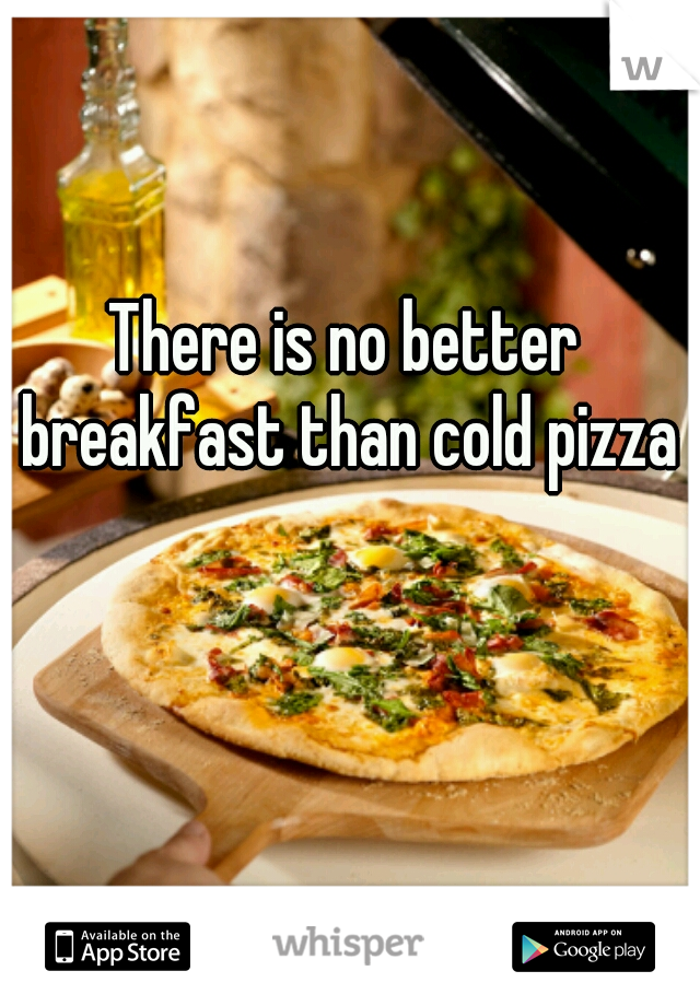 There is no better breakfast than cold pizza