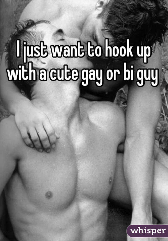 I just want to hook up with a cute gay or bi guy