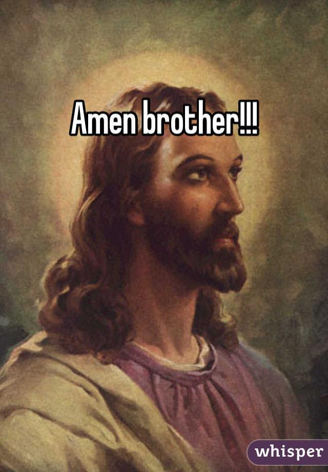 Amen brother!!!